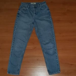 TOPSHOP MOTO MOM JEANS TAPERED LEG HIGH RISE 25